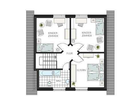 Einfamilienhaus ProFamily 124 Grundriss OG