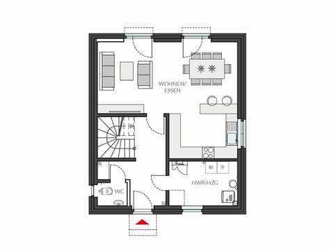 Einfamilienhaus ProFamily 112 Grundriss EG