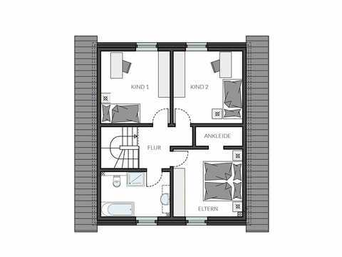 Einfamilienhaus ProFamily 112 Grundriss OG