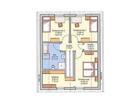 Einfamilienhaus Paris Grundriss OG
