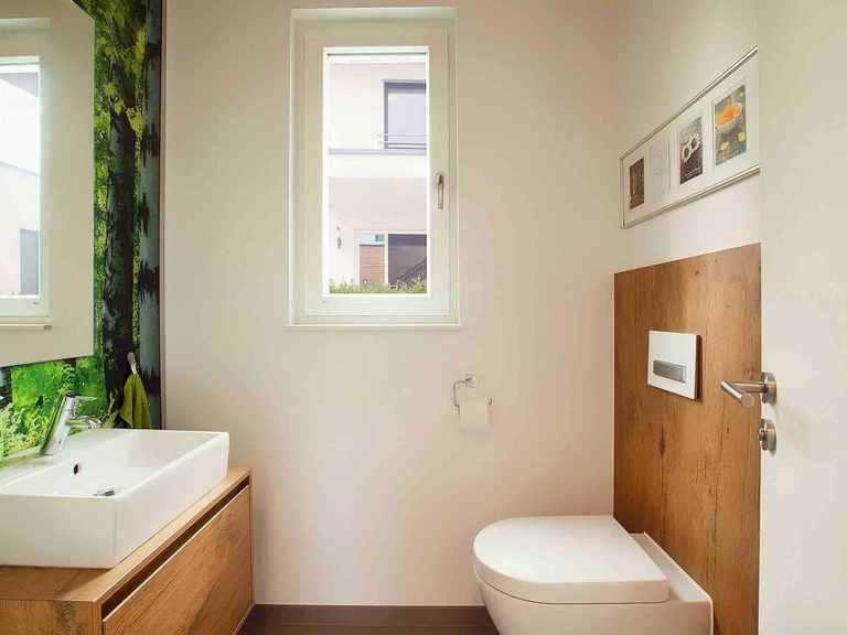Musterhaus Lumina - WOLF System Haus Gästetoilette