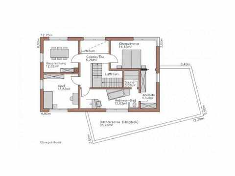 Musterhaus Lumina - WOLF System Haus Grundriss OG