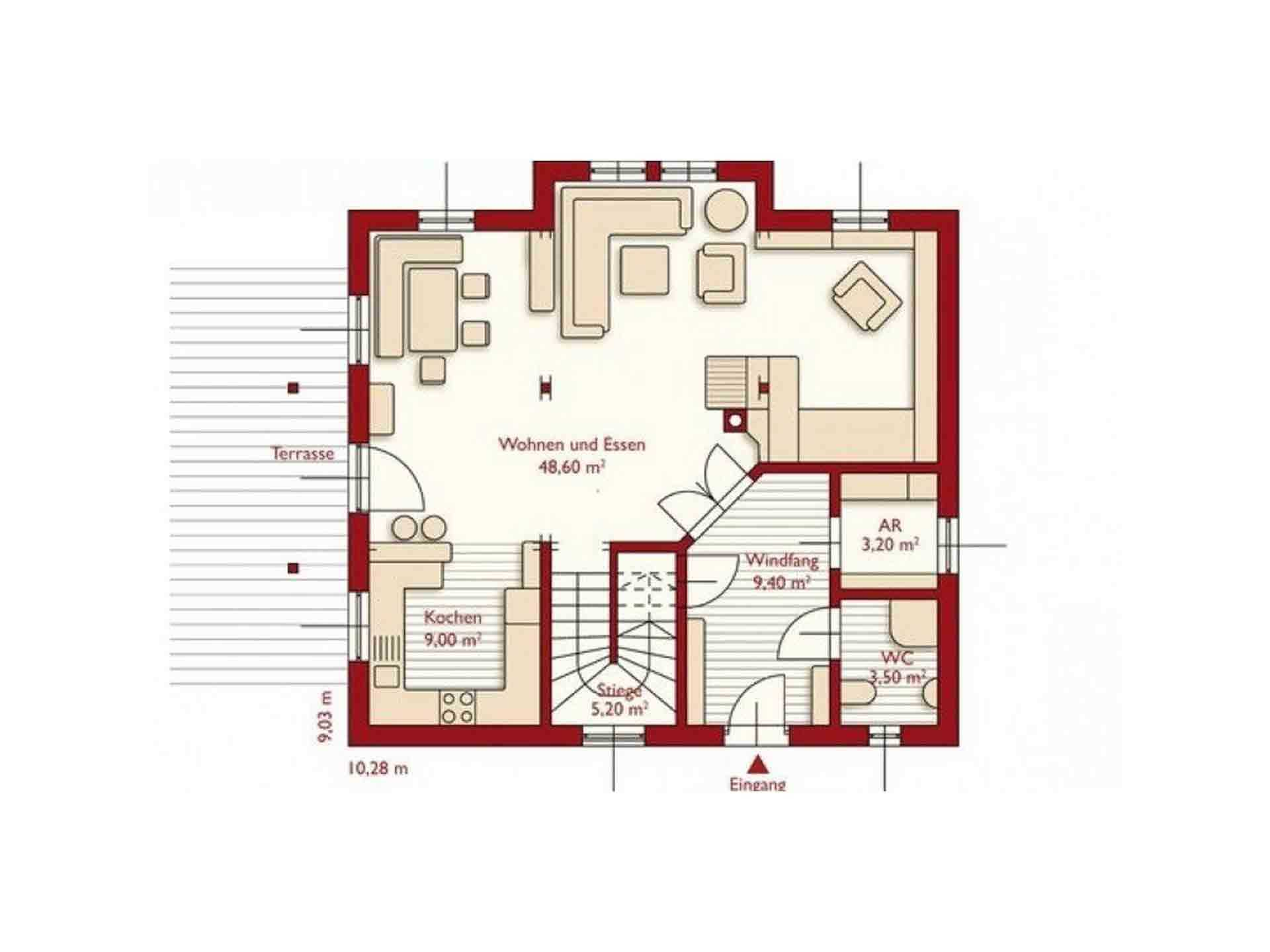 musterhaus schierling wolf system haus. Black Bedroom Furniture Sets. Home Design Ideas