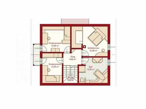 Musterhaus Schierling - WOLF System Haus Grundriss OG