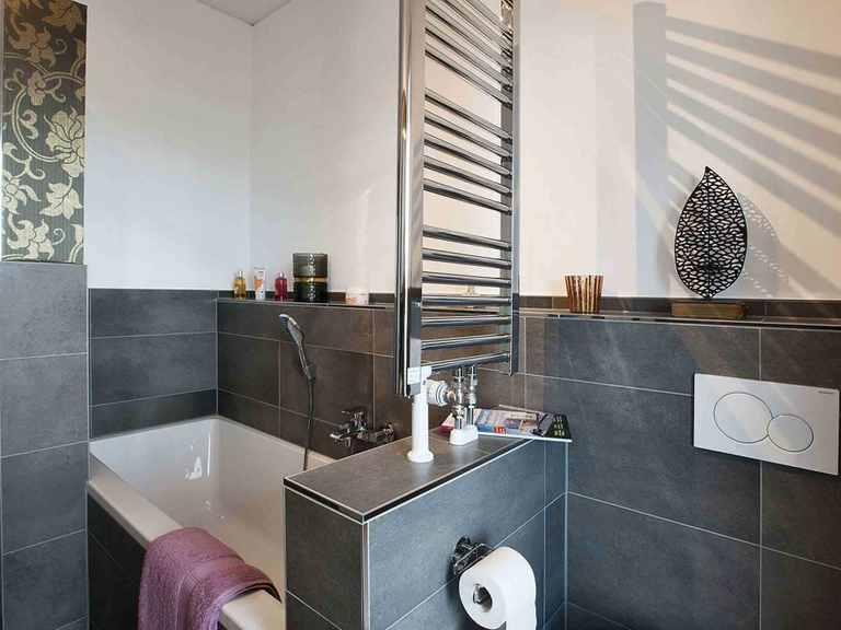Musterhaus Wincheringen - WOLF System Haus Badezimmer