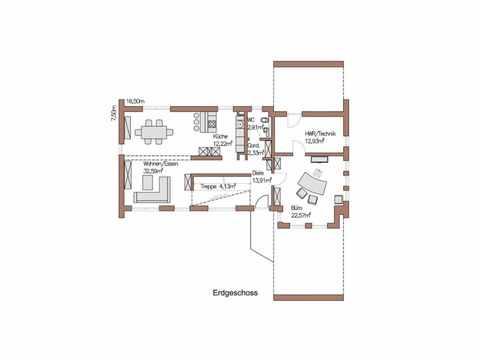 Musterhaus Wincheringen - WOLF System Haus Grundriss EG