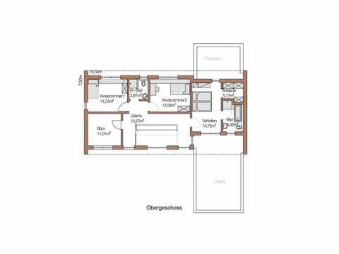 Musterhaus Wincheringen - WOLF System Haus Grundriss OG