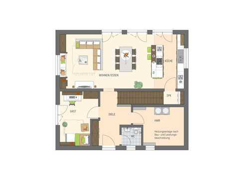 Einfamilienhaus Sento 400 Variante B Grundriss EG