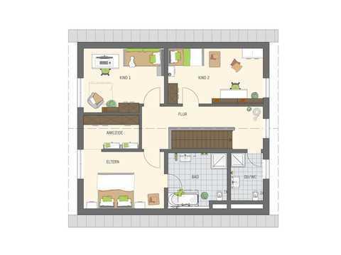 Einfamilienhaus Sento 400 Variante B Grundriss OG
