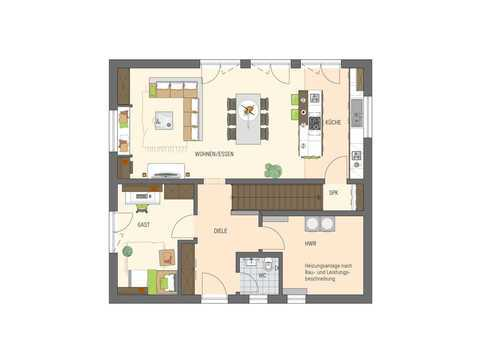 Einfamilienhaus Sento 400 Variante D Grundriss EG