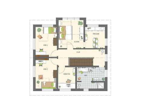 Einfamilienhaus Sento 400 Variante D Grundriss OG