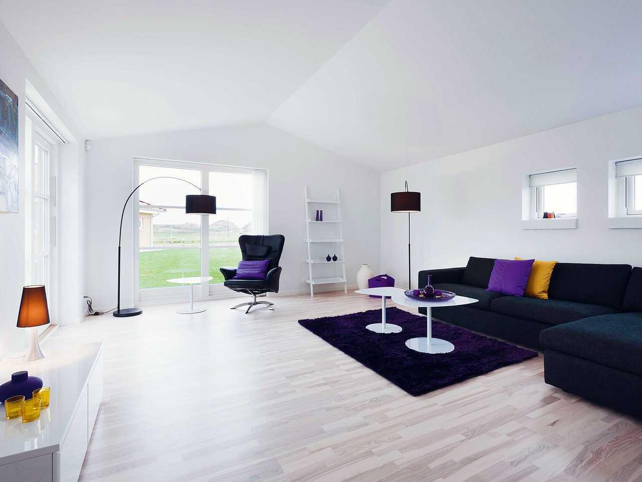 Bungalow B110 Innenansicht Wohnzimmer