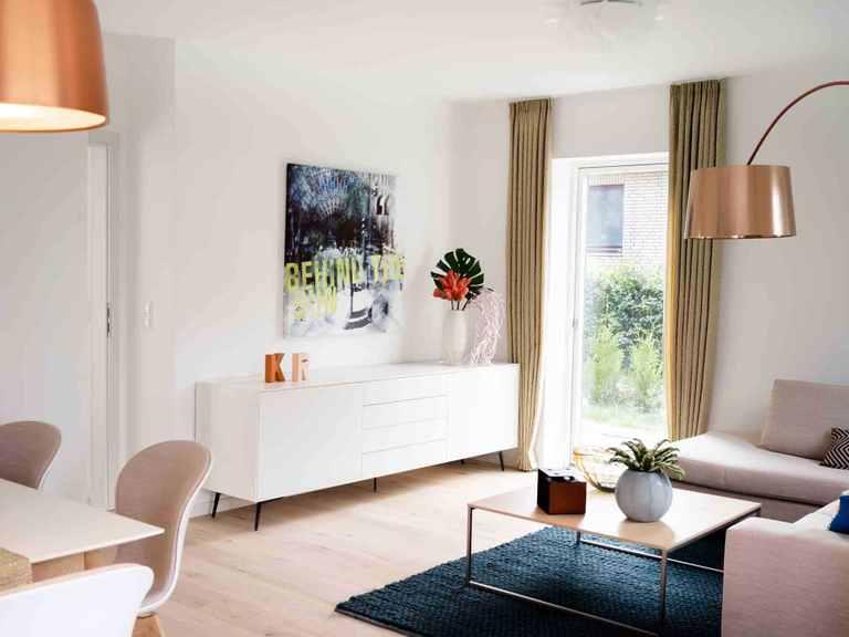 Doppelhaus DH144 - Die HausCompagnie Wohnbereich