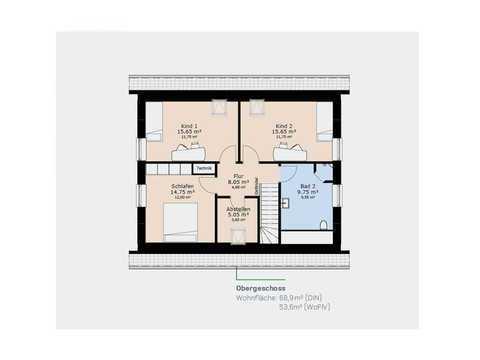 Einfamilienhaus EFH143 Grundriss OG