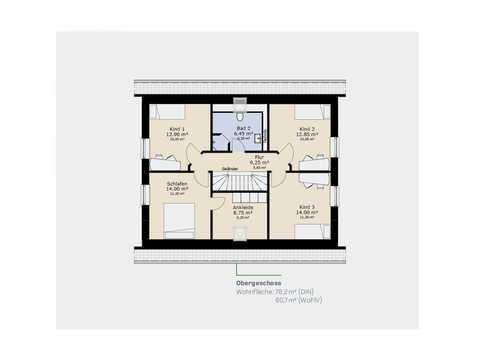 Einfamilienhaus EFH160 Grundriss OG