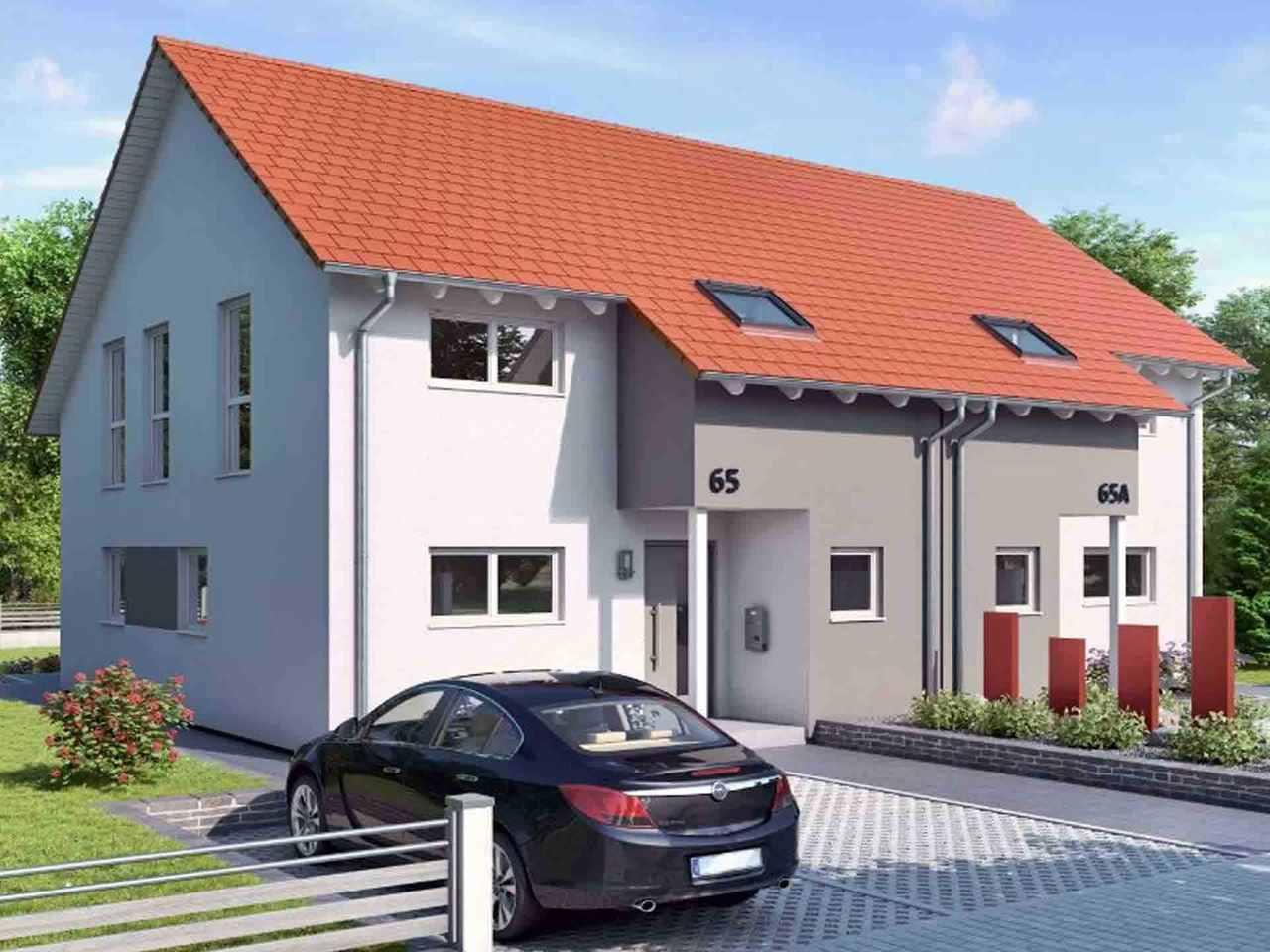 Doppelhaus Duett-D-130 1,5 - Schwabenhaus