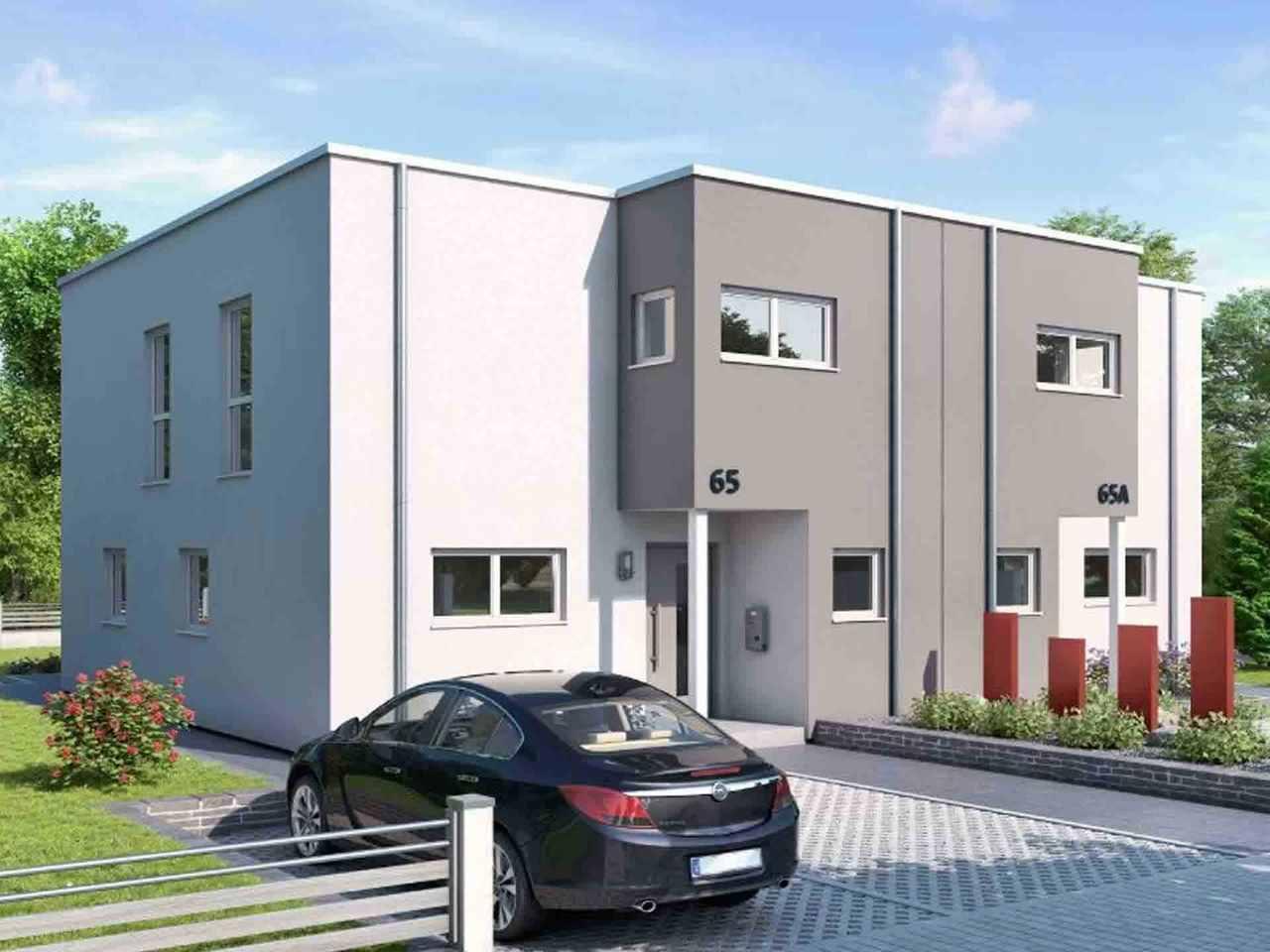 Doppelhaus Duett-D-130 1,5 - Schwabenhaus Variante 2