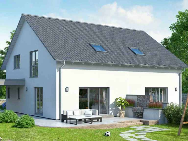 Doppelhaus Duett-D-112 1,5 - Schwabenhaus