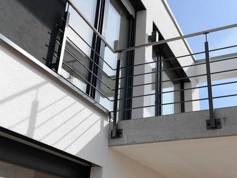 Musterhaus AMAZING LINES by artNOVUM, Balkon