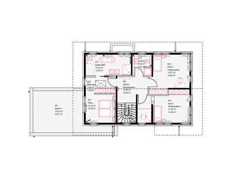 Musterhaus Estenfeld von OKAL Haus Grundriss OG