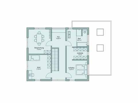 Musterhaus Fellbach-Stuttgart von TALBAU-Haus Grundriss OG