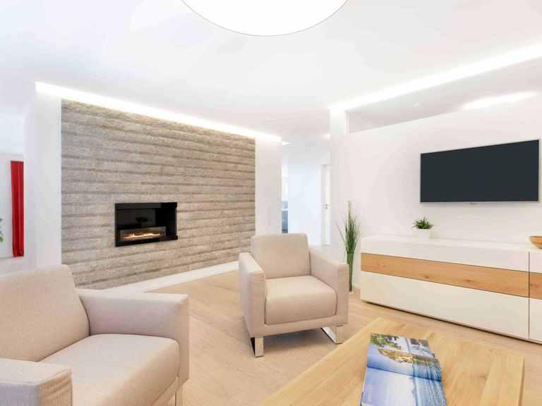 Wohnzimmer - Musterhaus Fellbach-Stuttgart von TALBAU-Haus