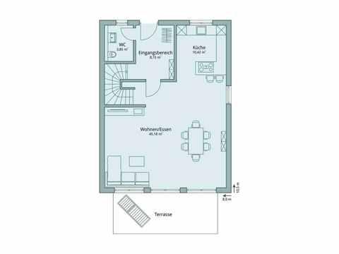Einfamilienhaus Unikat 115 von TALBAU-Haus Grundriss EG