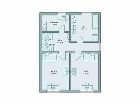 Einfamilienhaus Unikat 115 von TALBAU-Haus Grundriss OG