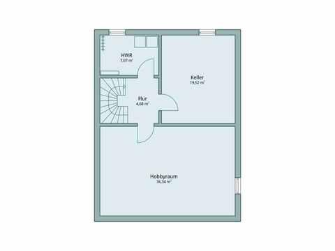 Einfamilienhaus Unikat 115 von TALBAU-Haus Grundriss UG