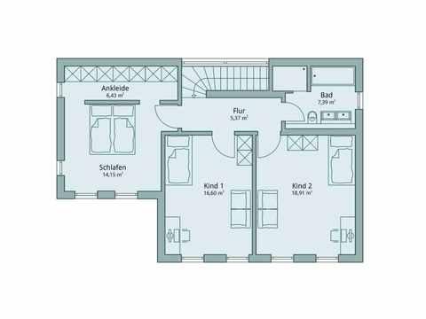 Einfamilienhaus Unikat 119 von TALBAU-Haus Grundriss DG