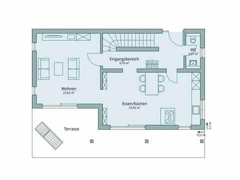 Einfamilienhaus Unikat 119 von TALBAU-Haus Grundriss EG