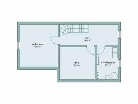 Einfamilienhaus Unikat 119 von TALBAU-Haus Grundriss UG
