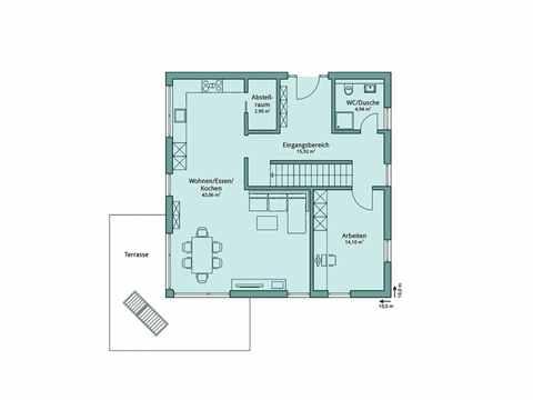 Einfamilienhaus Unikat 127 von TALBAU-Haus Grundriss EG