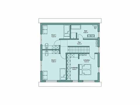 Einfamilienhaus Unikat 127 von TALBAU-Haus Grundriss OG