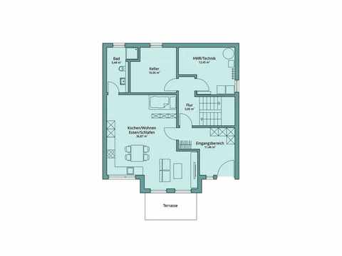 Einfamilienhaus Unikat 129 von TALBAU-Haus Grundriss EG