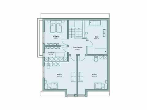 Einfamilienhaus Unikat 135 von TALBAU-Haus Grundriss DG