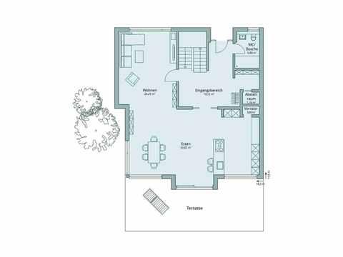 Einfamilienhaus Unikat 135 von TALBAU-Haus Grundriss EG