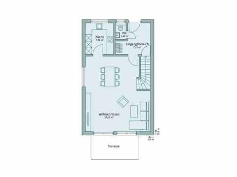 Einfamilienhaus Unikat 107 von TALBAU-Haus Grundriss EG