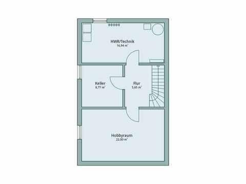 Einfamilienhaus Unikat 107 von TALBAU-Haus Grundriss UG