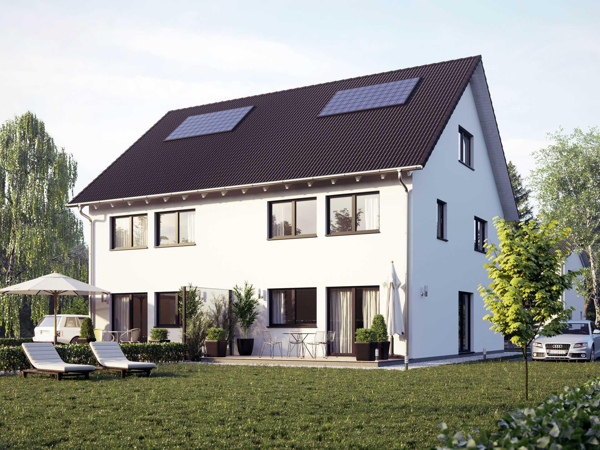 Doppelhaus Unikat 107 Talbau Haus Musterhausnet