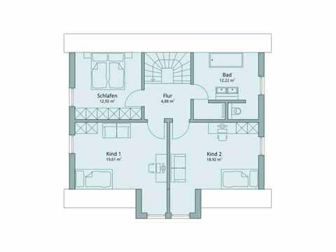 Einfamilienhaus Vario4Plus Klassik von TALBAU-Haus Grundriss DG