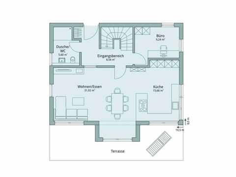Einfamilienhaus Vario4Plus Klassik von TALBAU-Haus Grundriss EG