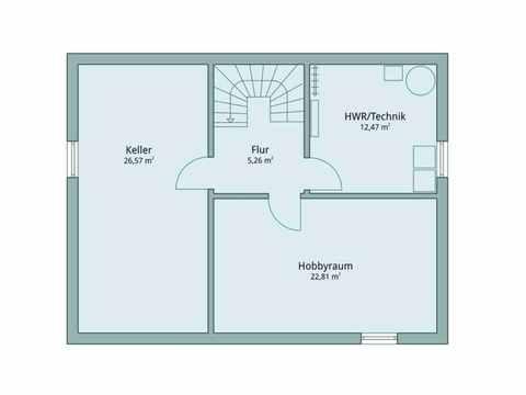 Einfamilienhaus Vario4Plus Klassik von TALBAU-Haus Grundriss UG