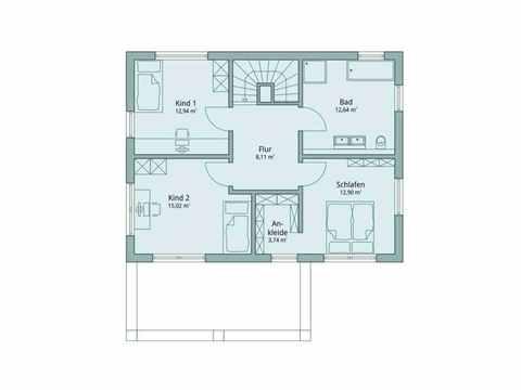 Einfamilienhaus Vario4Plus Modern von TALBAU-Haus Grundriss DG