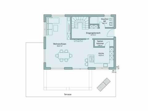 Einfamilienhaus Vario4Plus Modern von TALBAU-Haus Grundriss EG