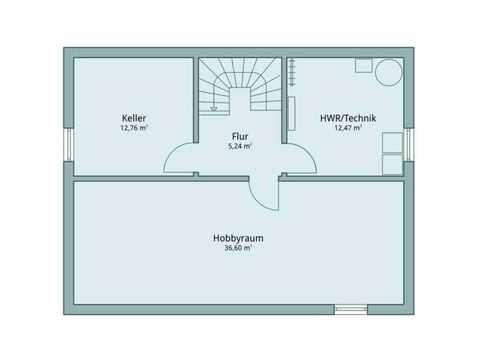 Einfamilienhaus Vario4Plus Modern von TALBAU-Haus Grundriss UG