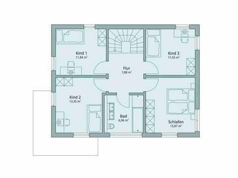 Einfamilienhaus Vario4Plus Extravagant von TALBAU-Haus Grundriss DG