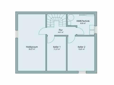 Einfamilienhaus Vario4Plus Extravagant von TALBAU-Haus Grundriss UG