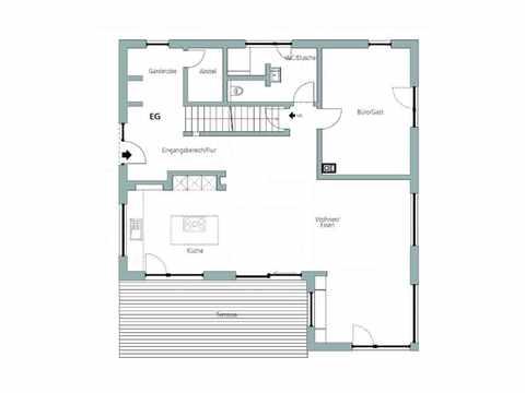 Einfamilienhaus Unikat 064 von TALBAU-Haus Grundriss EG