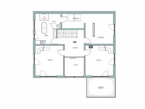 Einfamilienhaus Unikat 064 von TALBAU-Haus Grundriss OG
